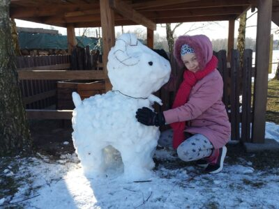 I miejsce Roksana Chalimoniuk ,,Śnieżny baranek Rogate''